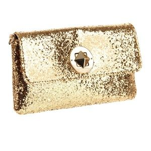 Kate Spade gold glitter cross body bag